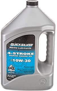 Quicksilver 8M0078617 FC-W 4-Stroke 10W-30 Marine Engine Oil, 1-Gallon