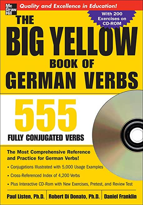 The Big Yellow Book of German Verbs (Book w/CD-ROM): 555 Fully Conjugated Verbs
