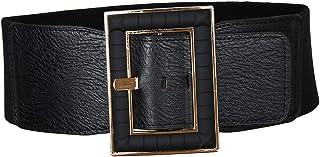 Lovoski Womens Fashion Leather Belt Wide Elastic Stretch Dress Skirt Belt for Party Dresses Waist Jewelry Decor