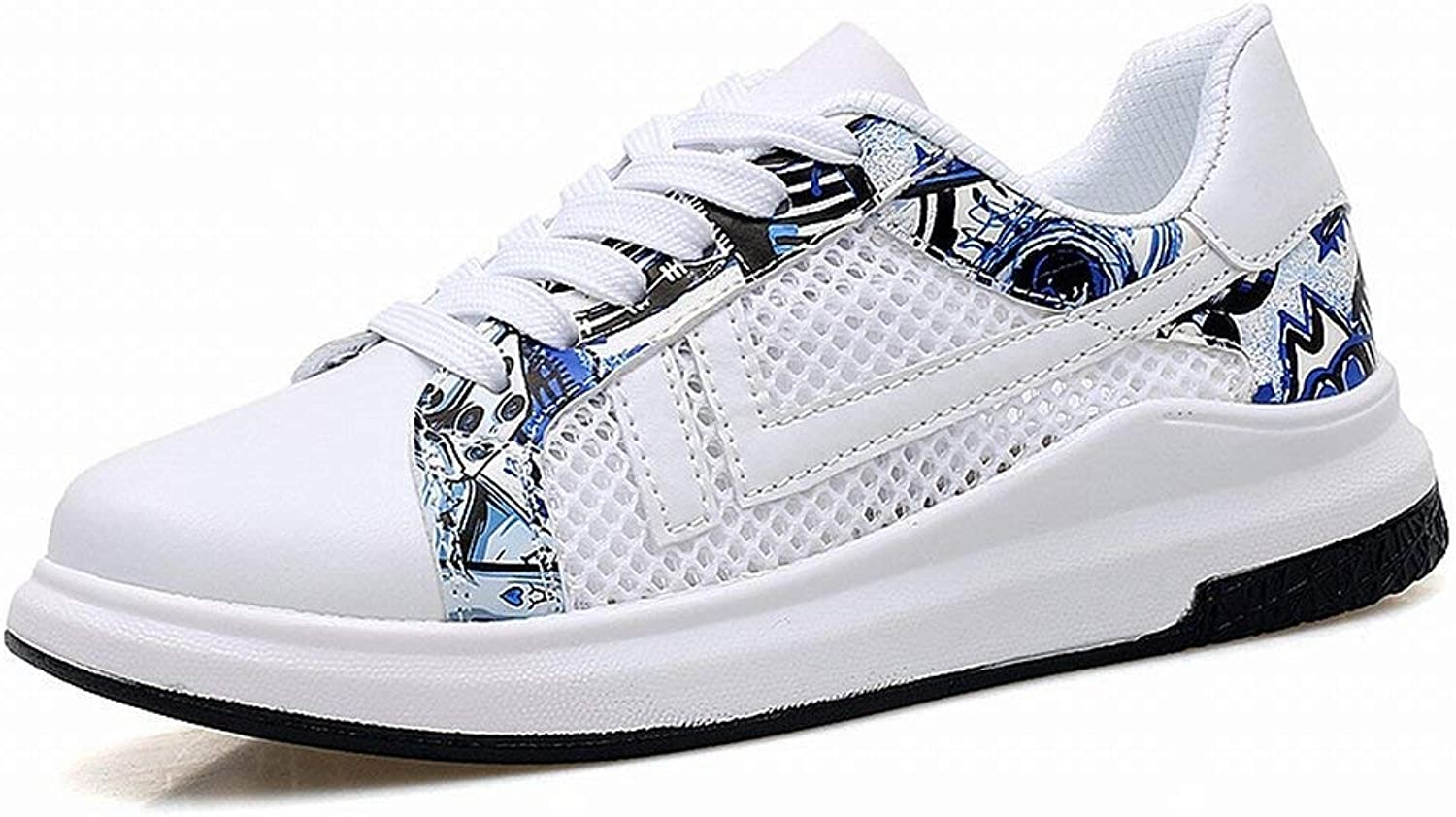 Hhgold Fashion Trend Sport shoes Classic All-Match Couple shoes Comfortable Breathable Casual shoes (color   White bluee, Size   43)