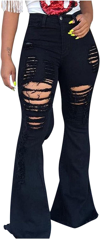 FSJ-SR1201 Jeans for Women Stretch Skinny Mid Denim Rise Black Ripped Sweatpants Baggy Straight Leg Casual Trousers
