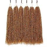 6 Packs Passion Twist Hair 18 Inch Bohemian Curl Passion Twist Crochet Braiding Hair Water Wave Synthetic Braids for Passion Twist Crochet Hair (22strands/pack, 27#)