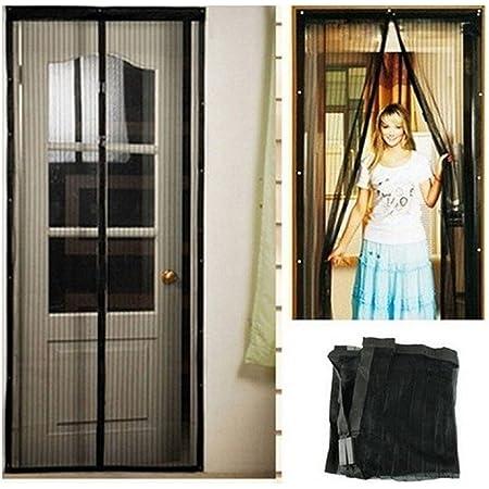 Elctman Sliding Screen Door Reinforced Fiberglass Mosquito Net Curtain Magnetic Screen Door Fit Doors Up to 35 x 83 in Hands Free Kids//Pets Friendly