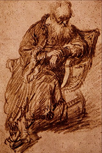 Rembrandt Harmenszoon Van Rijn - Old Man Seated in an Armchair -...