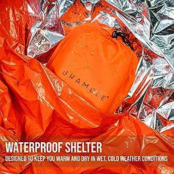 BRAMBLE 5 Sac de Couchage de Survie Premium, Couverture de Survie Urgence.
