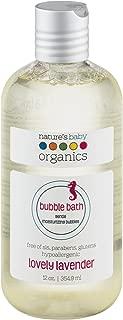 Nature's Baby Organics Moisturizing Bubble Bath, Lovely Lavender, 12 oz. Babies, Kids, Adults! Gentle, Soft, Rich, Hypoallergenic, No Parabens, SLS, or Glutens