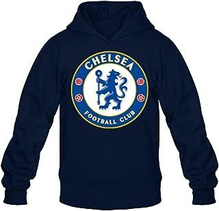 XIULUAN Men's FC Chelsea Logo Hoodied Sweatshirt Long Sleeve