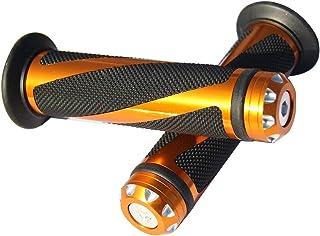 "MotorToGo Orange Gold CNC Aluminum Motorcycle 7/8"" 22mm Handlebar Gel Grips for 2010 Triumph Tiger 1050"