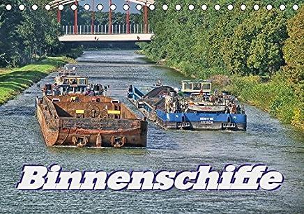 Binnenschiffe (Tischkalender 2018 DIN A5 quer): Sie sind auf dem weitläufigen Netz der Binnenwasserstraßen unterwegs und transportieren was nicht so ... Straße passt. (Monatskalender, 14 Seiten )