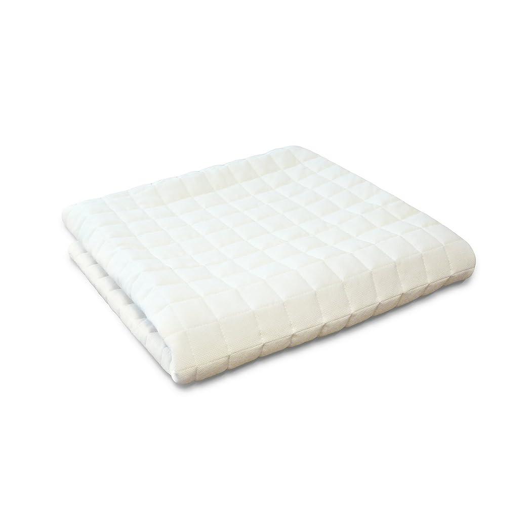 めったにジャンピングジャック困ったTOBEST ベッドパッド 汚れ防止マットレスカバー 通気性抜群 丸洗い可能 メッシュ 取替楽々 アイボリー 厚み10cmまで (ダブル)