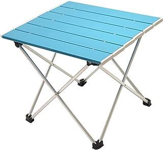 LXHDKDT Table de Camping Table Pliable Portable Camping Meubles de Plein air Tables de lit d'ordinateur Pique-Nique en All...