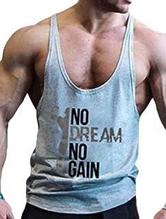 Keaac メンズフィットジムマッスルカットストリンガーボディービルトレーニングノースリーブタンクトップシャツ