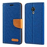 Meizu M15 Lite Case, Oxford Leather Wallet Case with Soft