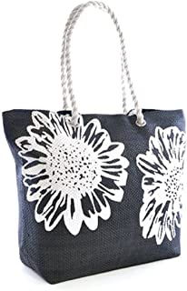 Beach Bag Tote Bags for Women Ladies Large Summer Shoulder Bag With Pocket Carrier Bag Flower