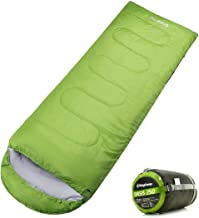 KingCamp Envelope Sleeping Bag 3 Season Lightweight Comfort Portable Great for Adults Kids Camping Backpack Hiking with Compression Sack Extreme Temp Rating 44F