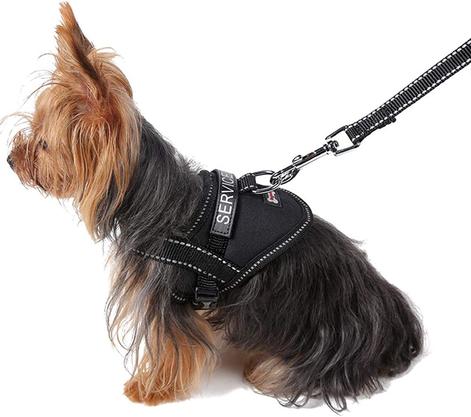 Dog Pet Chest Harness Refective Puppy Dog Service Harness with Slogan Dog Vest Harness Collar
