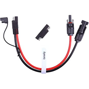 iGreely Solar Panel to SAE Adapter 10AWG Cable Conector Charger Kit Compatible with MC4 for RV Solar Panel Battery 2ft/60cm