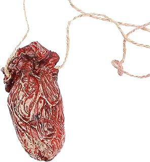 (H) ホラーネックレス/04.心臓 内臓 1個販売 ハロウィン グッズ 不気味 リアル 恐怖 ホラー ゾンビ 血のり 血液 特殊メイク 傷 切断 飾り ディスプレイ インテリア雑貨