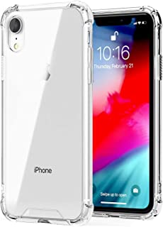 """for iPhone XR Case, Kinoto Clear Lifeproof Bumper Cases for Apple iPhone XR 6.1"""" Qi Slim Silicone Hard Transparent Cover H..."""