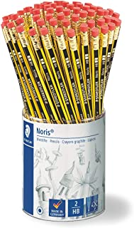 Staedtler 122 KP72 Noris HB Pencil with Rubber Eraser Tip (Boxed Pack of 72)