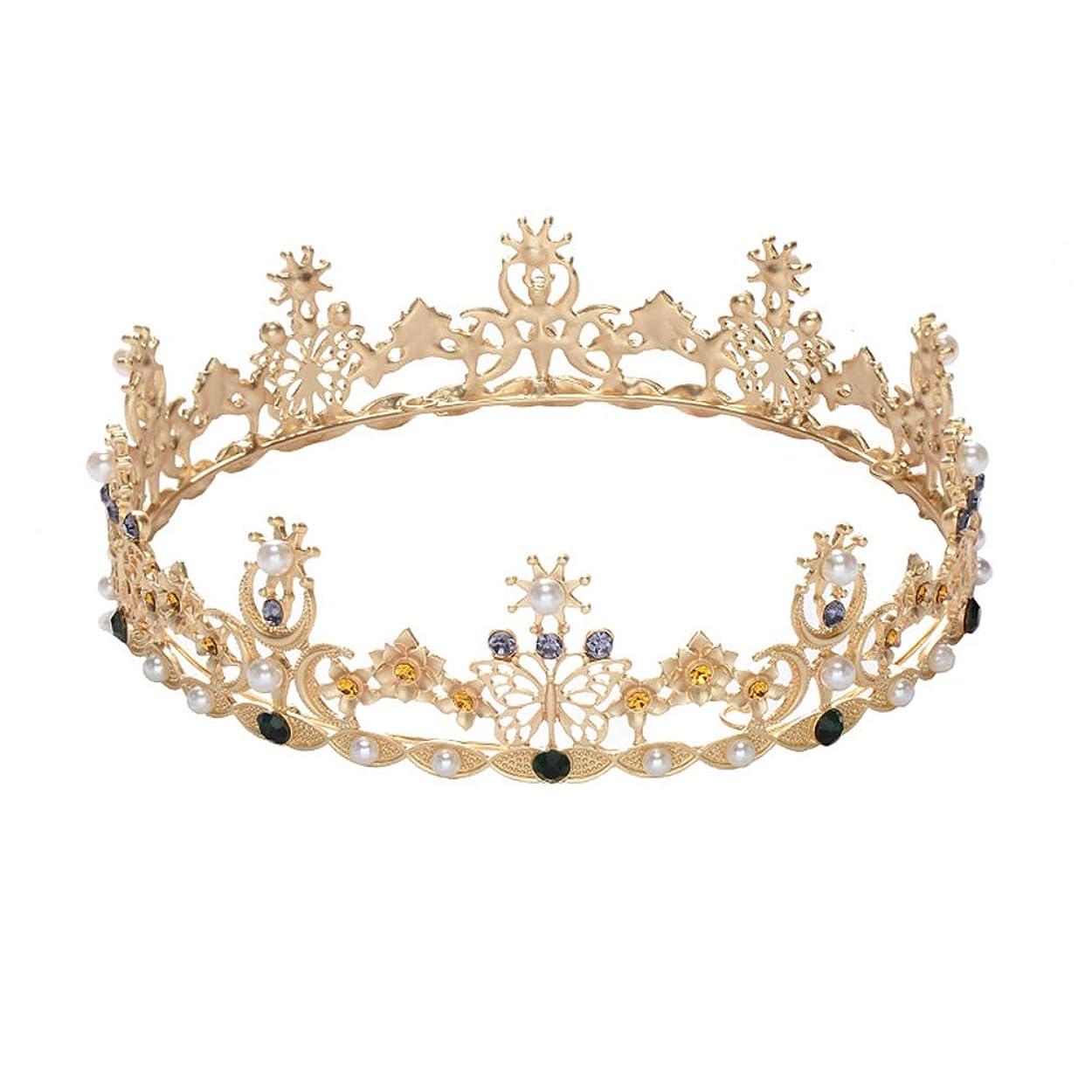 裏切り者続けるイチゴLURROSE Baroque vintage crown rhinestone queen king tiaras for wedding bridal