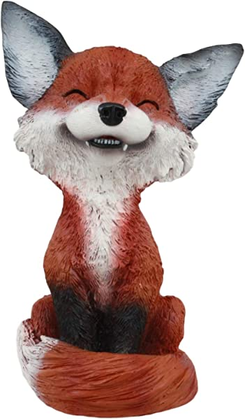 Ebros Sinister Pets Collector TeeHee Grinning Sly Fox Figurine 4 25 H Red Fox Figurine