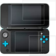 AFUNTA Screen Protector Compatible Nintendo 2DS XL, 2 Pack (4 Pcs) Tempered Glass for Top and Bottom Screen, 2DS Protectiv...