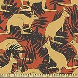 ABAKUHAUS Känguru Gewebe als Meterware, Tiere und