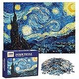 Puzzle de 1000 Piezas para Adultos Puzzles Venecia 1000 Piece Jigsaw Puzzles Rompecabezas Juguete Intelectual Desafío Intelectual Juegos (70x50cm) (Noche Estrellada)