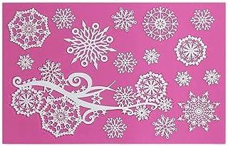 Voarge foremka do płatków śniegu Sugarcraft z silikonu z koronką, wzór płatków śniegu, mata silikonowa, koronka
