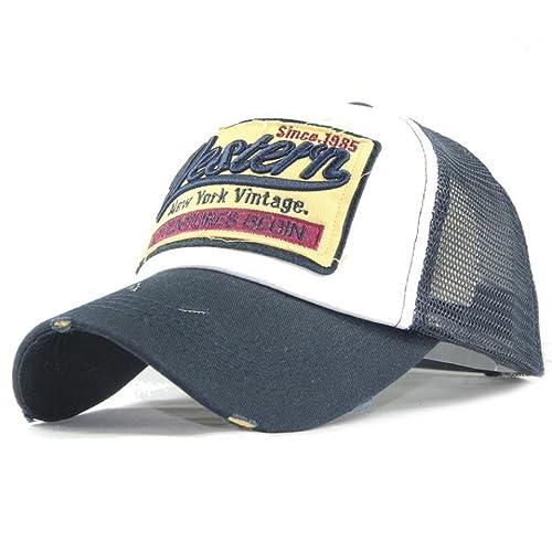 Amlaiworld Gorras Gorra de Beisbol Verano Bordada de Malla Sombreros para  Hombres Mujeres Sombreros Casuales Gorras de e1a4f68eb8d