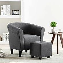 vidaXL Armchair Dark Grey Fabric
