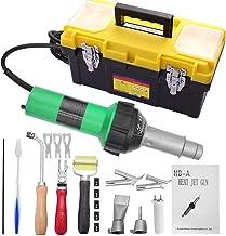 KKTECT 1 600 W plastsvetsningsverktyg 20 ℃ 600 ℃ variabel temperaturreglering varmluftspistol 21 stycken varmluftspistol k...