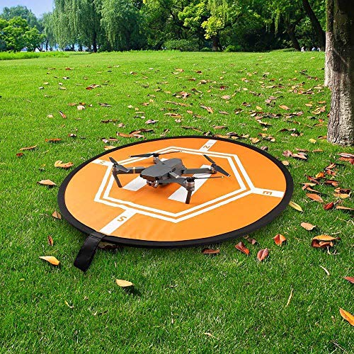 NMD&LR Drone Landing Pad, Portable Waterproof Foldable Tarmac Oversized Landing Pad Suitable for Drone Helicopter 80CM of Various Brands