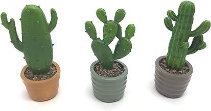 YIVVIN - Plantas Artificiales de Resina con Maceta de Cactus suculentas, decoración de Escritorio, 14 cm, 5.5in Height