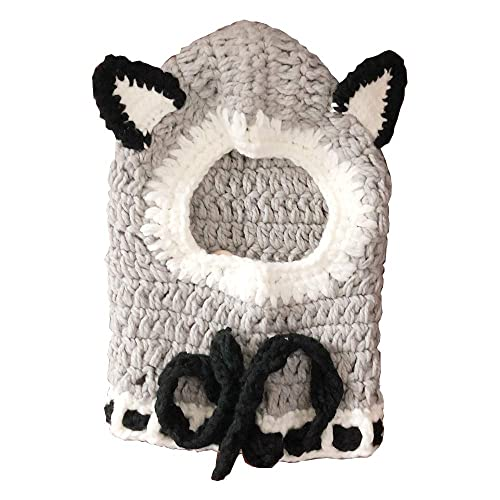 PLUSH WOLF ANIMAL HAT warm hats animals wolves caps NEW earmuff kids head wear
