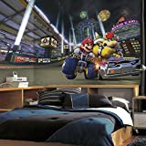 RoomMates JL1330M Nintendo - Mario Kart 8 Water Activated Removable Wallpaper Mural - 10.5 ft. x 6 ft.