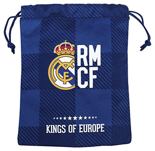 Real Madrid Saquito merienda, color azul (Safta 811724237), multicolor, 25 cm