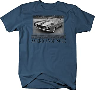 Retro American Muscle Muscle Car Camaro Z28 Restoration Garage T Shirt for Men