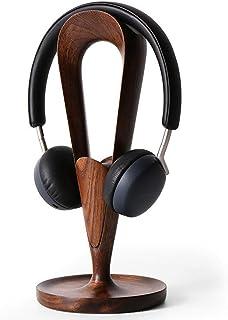 Jcnfa-Estante Tenedor de Auricular de Madera Sólida, Negro Negro, Titular de Auriculares, Renador (Color : Black Walnut wi...
