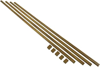16 ft. Cable Raceway Kit for Concealing and Cord Organizing - Brown Wood Finished Look– Each Strip is 0.78 x 0.39 x 48 inches