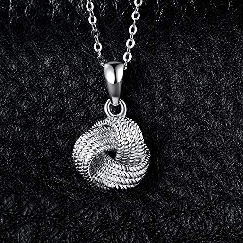 Tianziwen Collar clásico con colgante de nudo de amor en forma de sierra, la primera opción para damas con artesanía