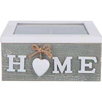 Wifehelper Caja de Almacenamiento de Madera para Joyas, para té, hogar, Oficina, decoración de Escritorio, Regalo, Caja de Madera para té, Almacenamiento de té: Amazon.es: Hogar
