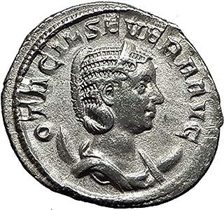 247 IT Otacilia Severa 247AD Rome AR Authentic Ancient R coin Good