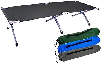 Stable et Durable Chaise Longue Pliable Robuste lit de Camping Pliable INCL lit de Voyage Portal Ron Lit de Camp XXL 204/x 79/x 50/sans traverses g/ênantes Sac de Transport.