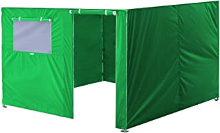 Eurmax Full Zippered Walls for 10 x 10 Easy Pop Up Canopy Tent,Enclosure Sidewall Kit with Roller Up Mesh Window and Door,4 Walls ONLY,Kelly Green