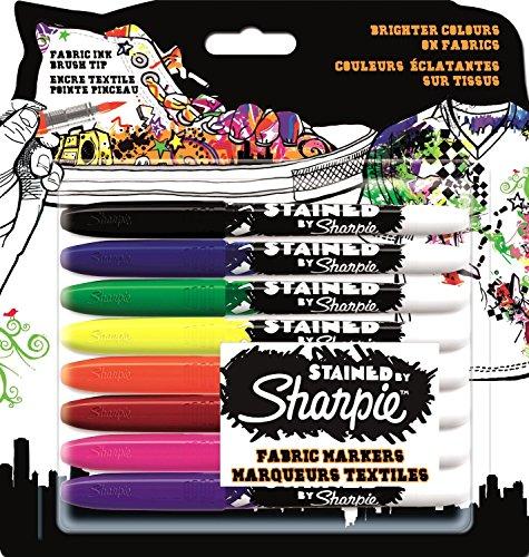 Sharpie S0962151 Stained 8er Blister, schwarz/blau/rot/grün/orange/violett/magenta/gelb