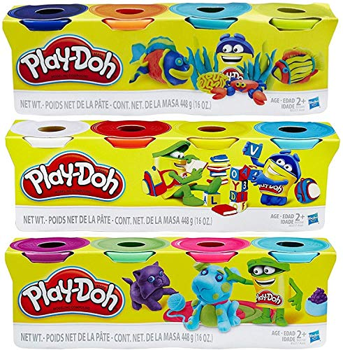 PlayDoh HASB5517BAMZ 4Pack of Colors Gift Set Bundle 12 Cans48 Oz
