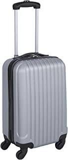 45.5cm Carry-On Hard Case Travel/Luggage Silver