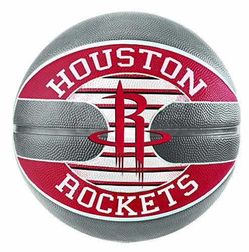 Spalding NBA Team Houston Rockets Ball Basketball, grau/Rot, 7